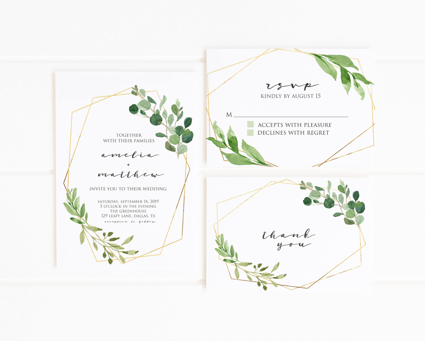 printable green invitations