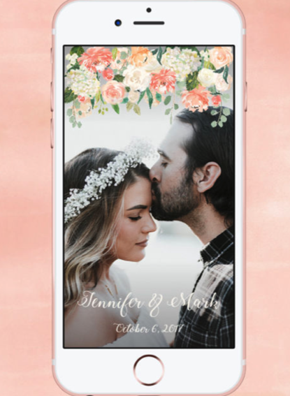 WEDDING SNAP CHAT FILTER WITH FLOWERS