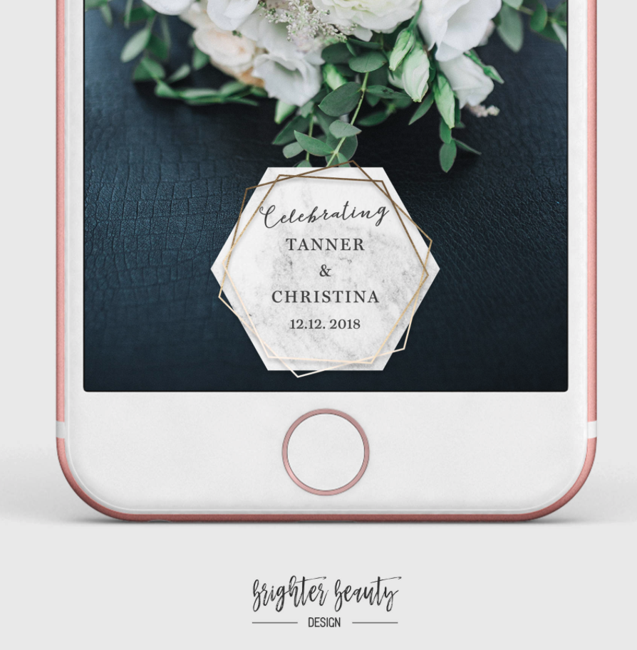 GEOMETRIC WEDDING FILTER FOR SNAPCHAT