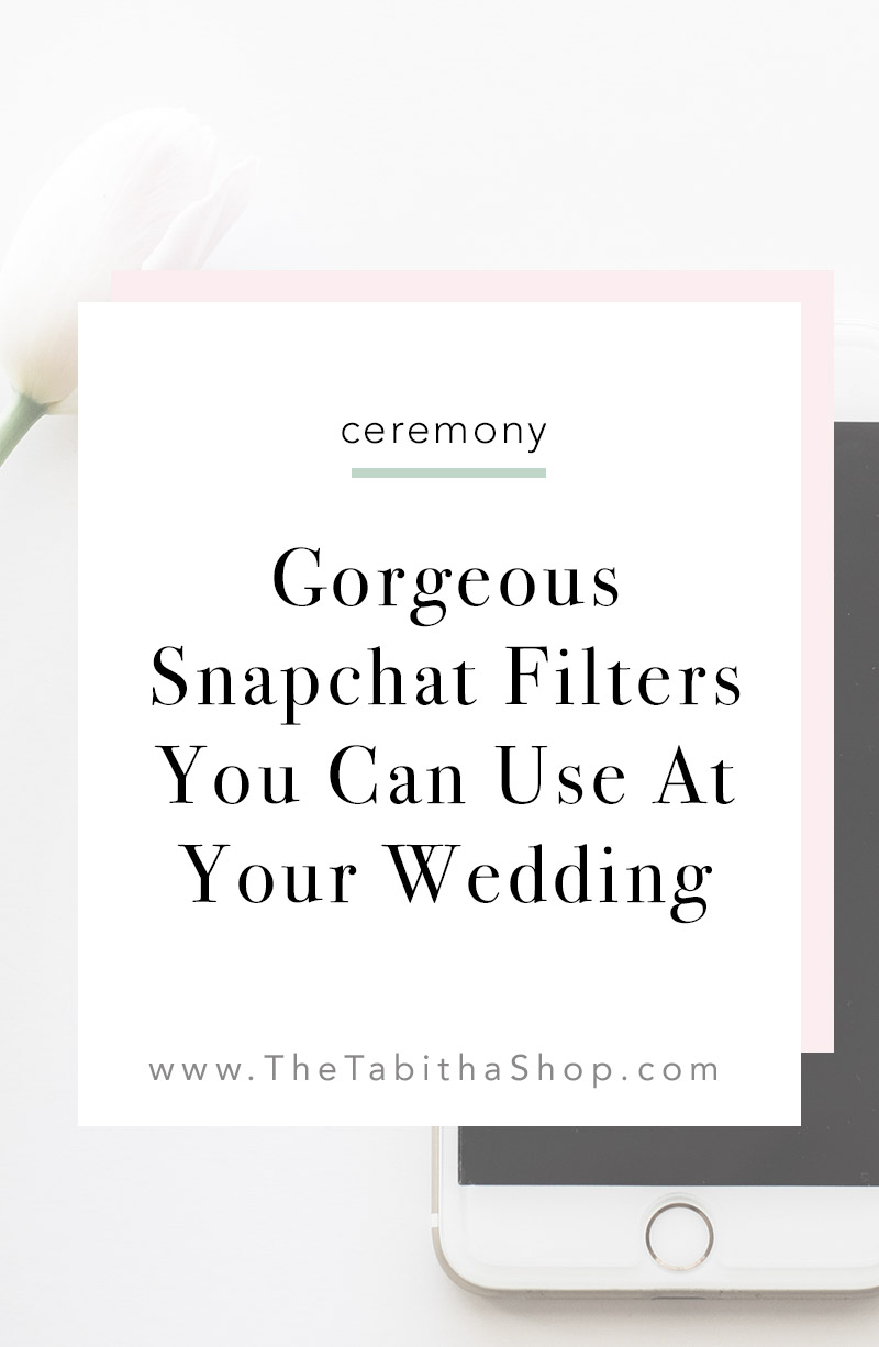 wedding snapchat filters