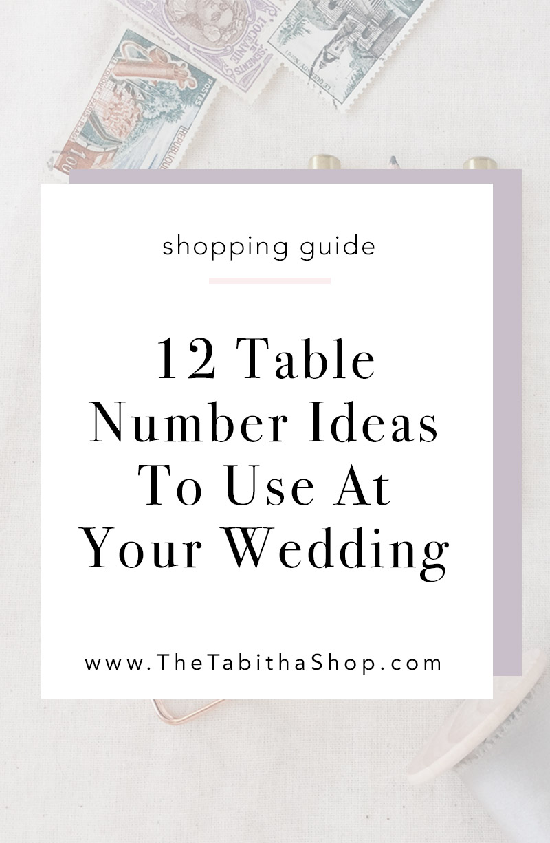 table numbers for wedding
