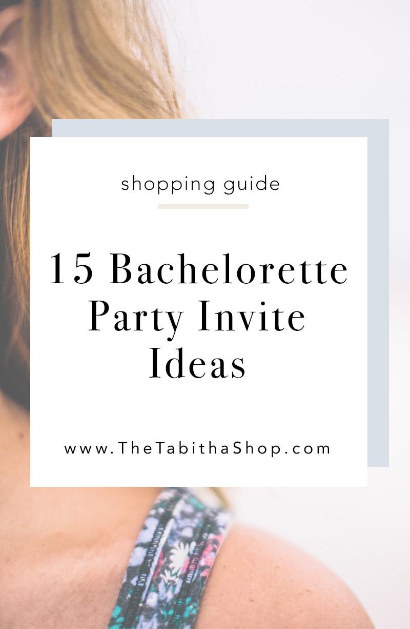 bachelorette party invitation ideas