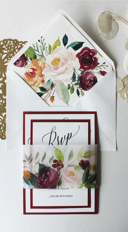 blush and wine wedding