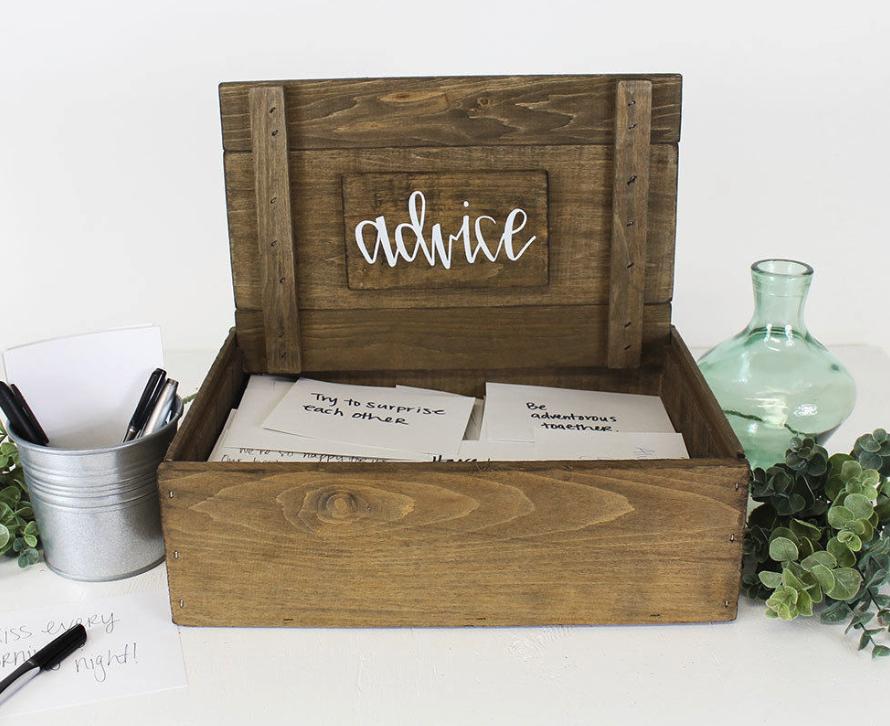 wooden advice box