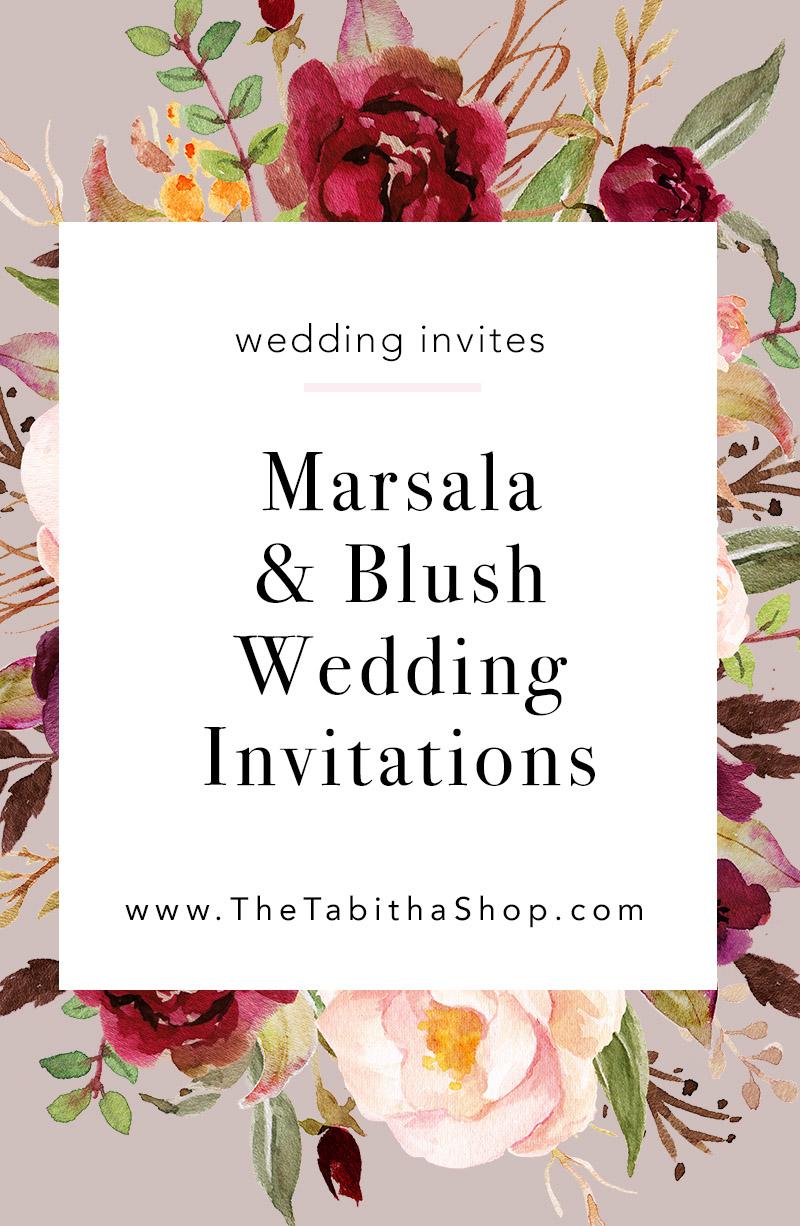 marsala wedding invitations