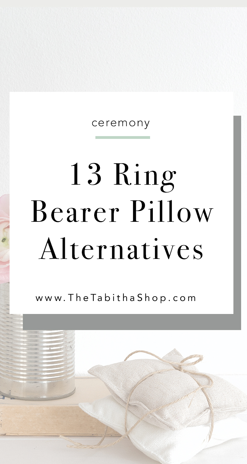ring bearer pillow alternatives