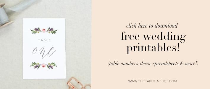 downloadable wedding printables