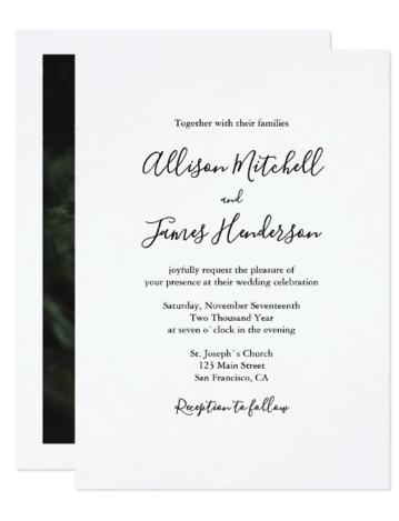 invitation with photo