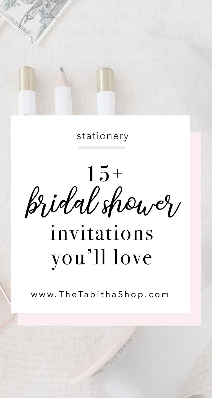 15 Bridal Shower Invitation Ideas