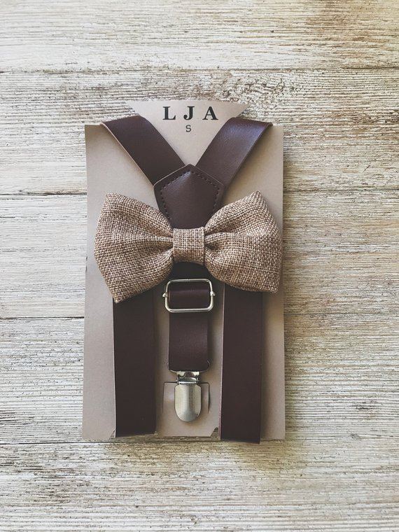 ring bearer ties and suspender