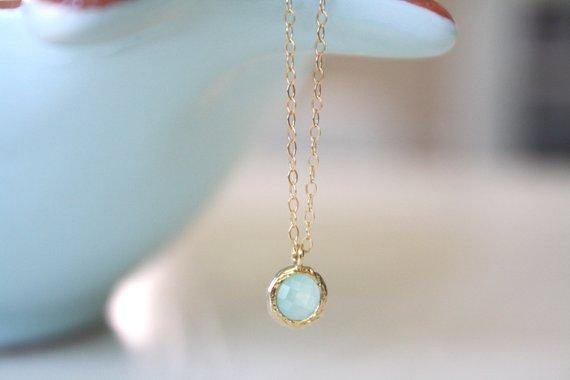 Blue Necklace Wedding