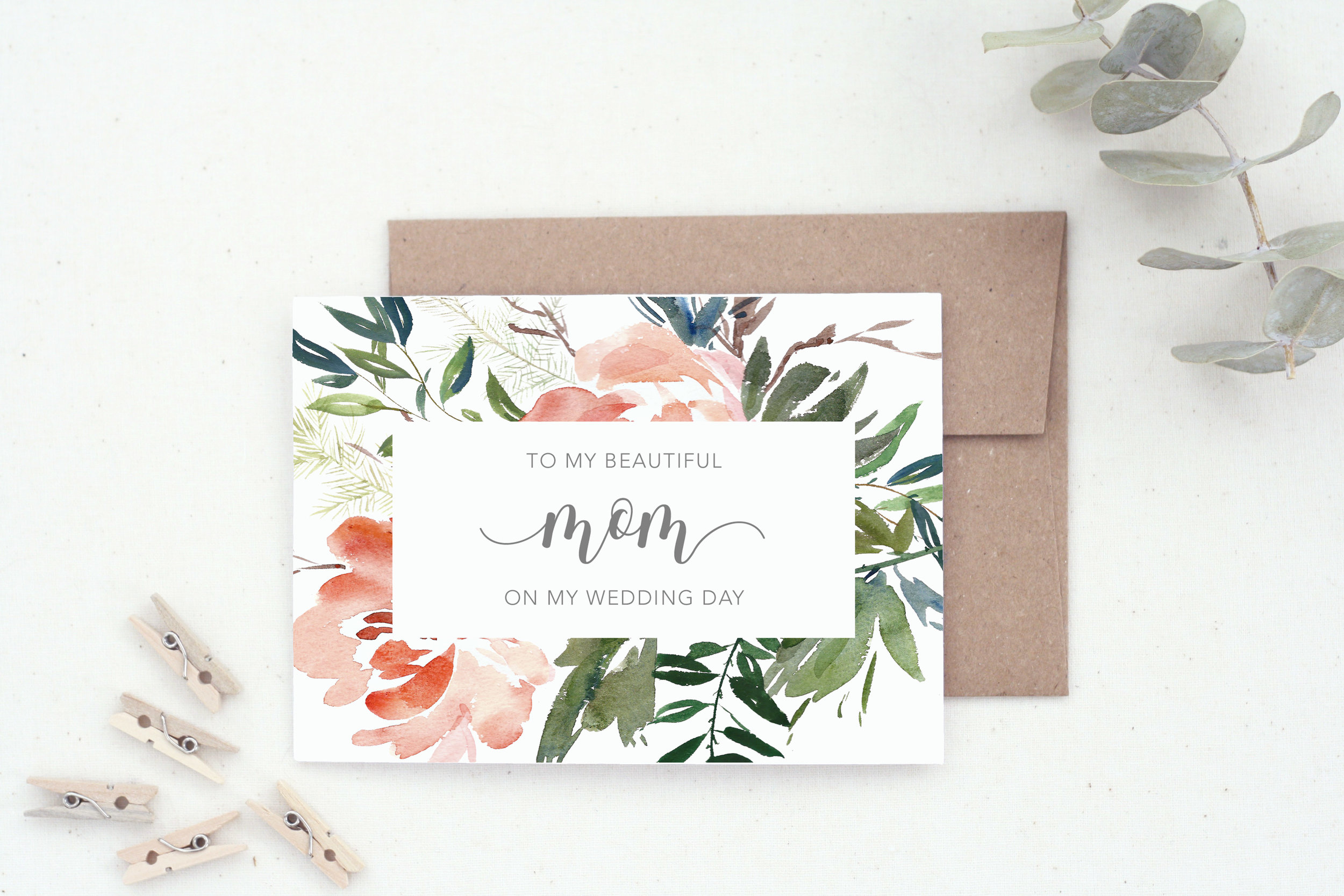 To my Mom Wedding Day Card by The Tabitha Shop