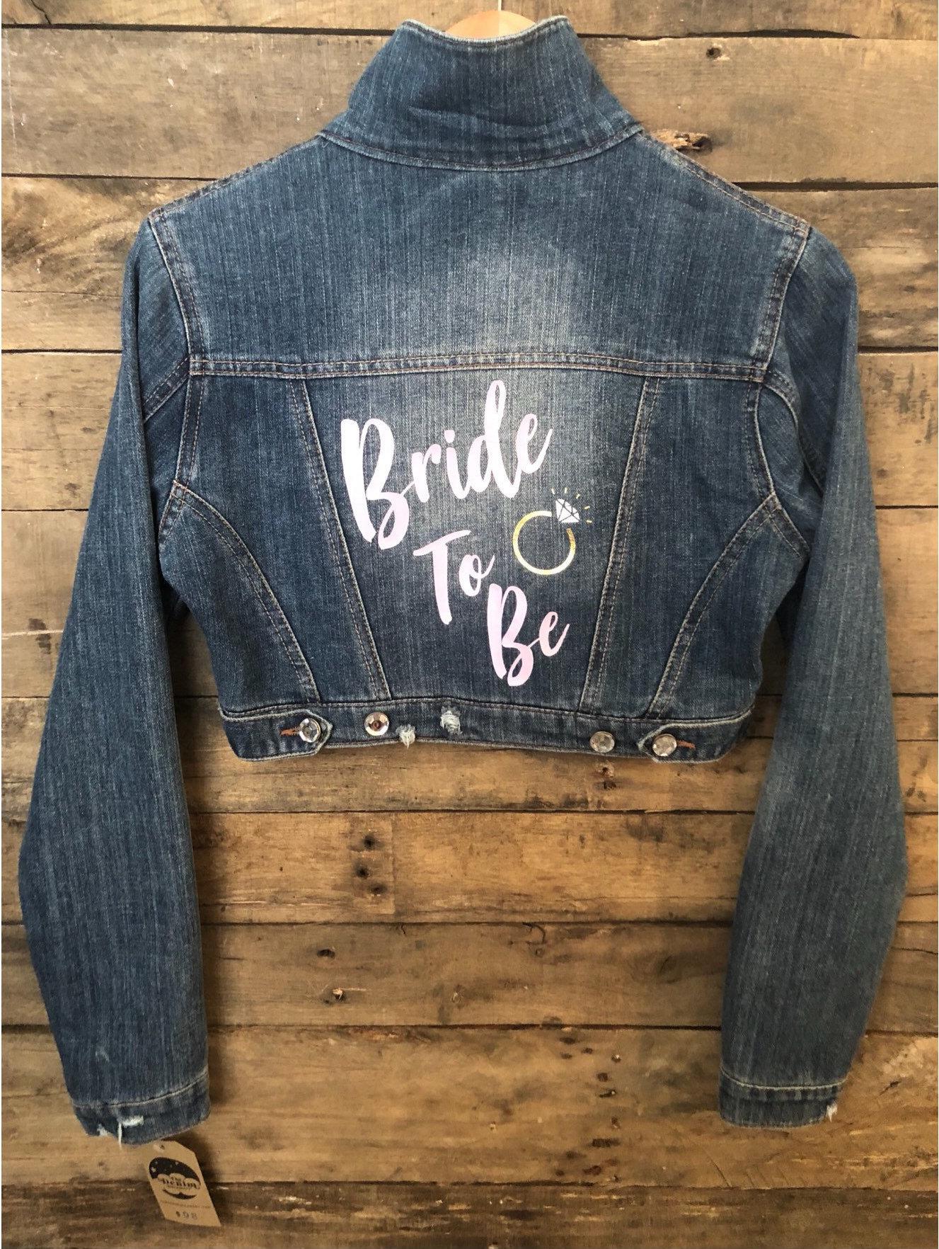 vintage denim bridal jacket