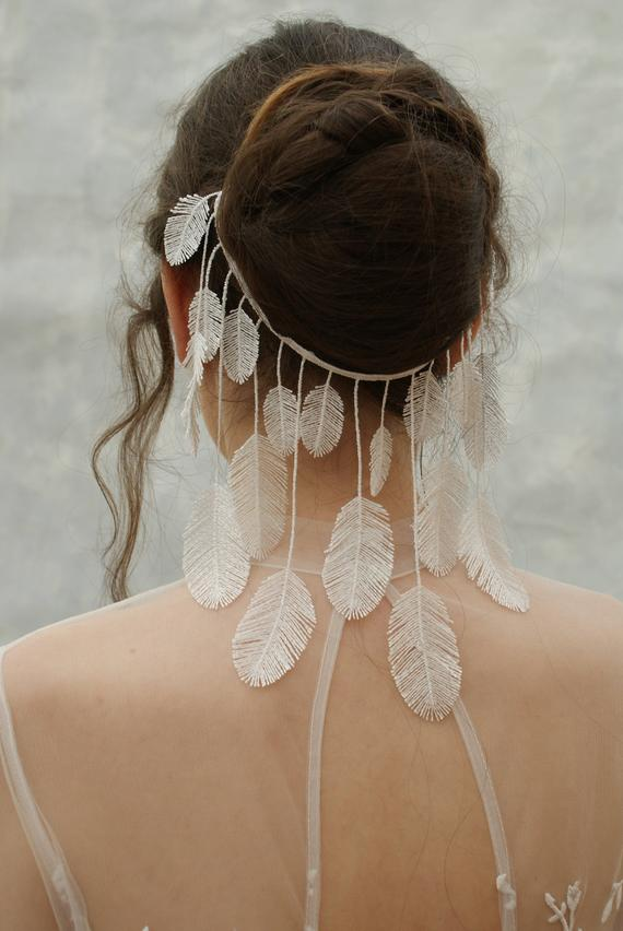 boho wedding veil alternative