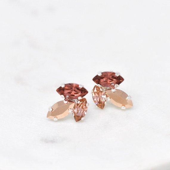 blush and plum earrings