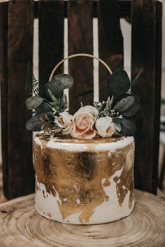 Blush Floral Cake Topper