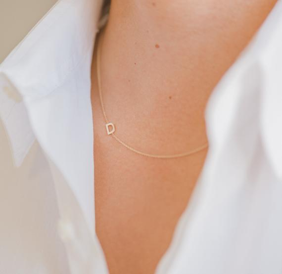 Initial Necklace Bridesmaid Gifts