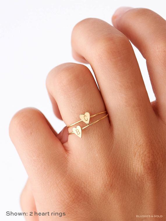 Heart Rings Dainty Gift