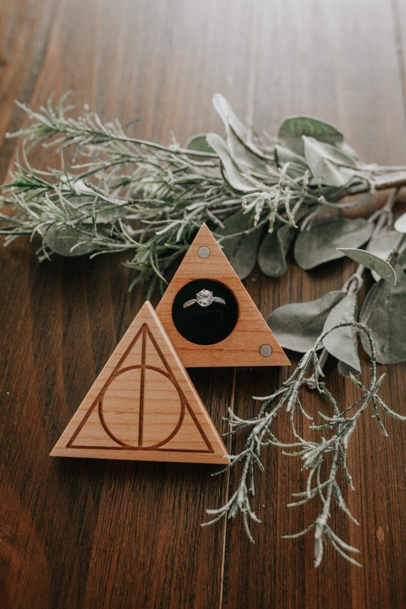 How to Throw a Harry Potter Wedding - Ring Box by Mustafa Woodworks Co - #wedding #harrypotter #always #muggletomrs