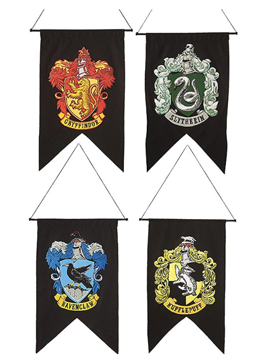 How to Throw a Harry Potter Wedding - Hogwarts Flags by Rubie's Costume Co - #wedding #harrypotter #always #muggletomrs