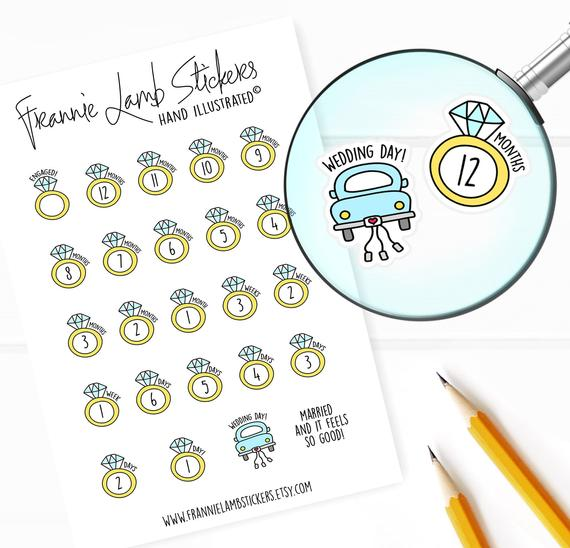 10 Wedding Planners to Keep Your Sanity - Stickers by Frannie Lamb Stickers - #weddings #weddingplanning #weddingplanners