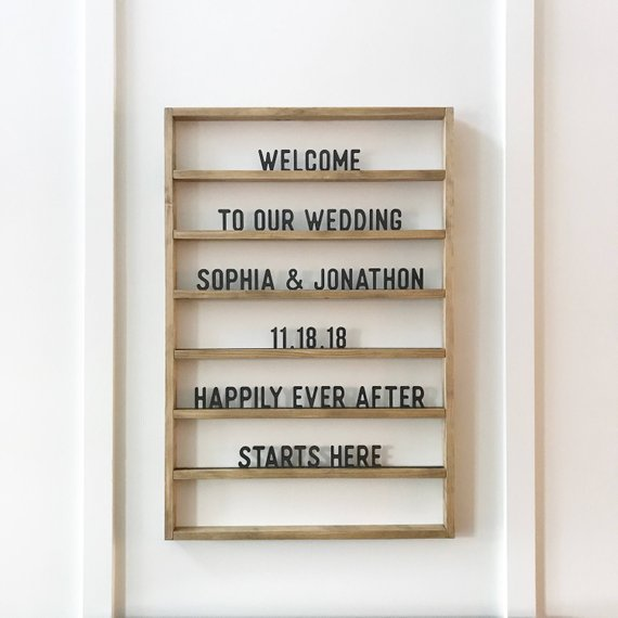 10 Letter Boards to Welcome Your Wedding Guests - Board by Freestyle Mom - #weddings #guests #letterboard #weddingdecor