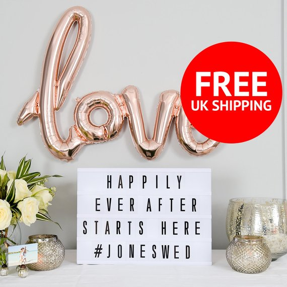 10 Letter Boards to Welcome Your Wedding Guests - Lightbox by Unique Letters Shop - #weddings #guests #letterboard #weddingdecor