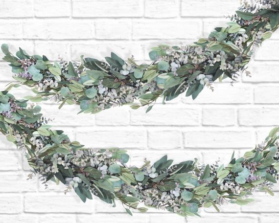 Planning a Burgundy & Dusty Blue Wedding - Garland by Boomers Trading Co - #wedding #maroonwedding #dustybluewedding