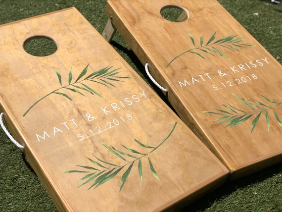 Yard Game Ideas to Keep Your Guests Smiling - Game by Wedding Woodworks Co - #weddinggames #yardgames #weddings