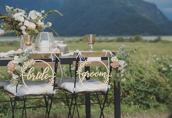 11 Signs for your Wedding Day Chairs - Signs by Perfect Wedding Store