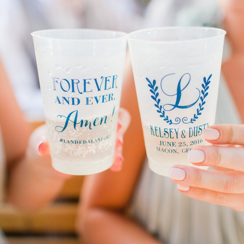 14 Gorgeous Ideas for an Outdoor Summer Wedding - Cups by Sip Hip Hooray - #weddings #summerwedding #outdoorwedding #summer