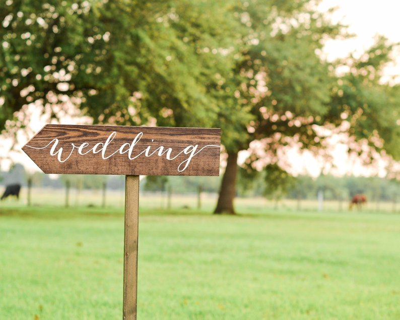 14 Gorgeous Ideas for an Outdoor Summer Wedding - Sign by Flora South Designs - #weddings #summerwedding #outdoorwedding #summer