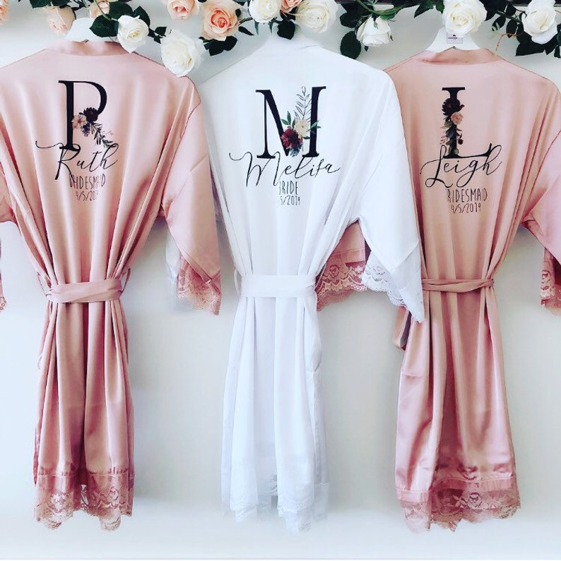 15 Robes for your Bridesmaids - Robes by Bespoke Wedding Gift Co- #bridesmaids #wedding #bridesmaidsrobes