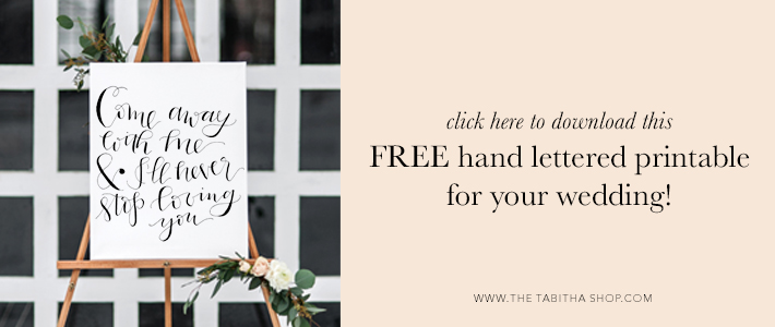 free wedding printable