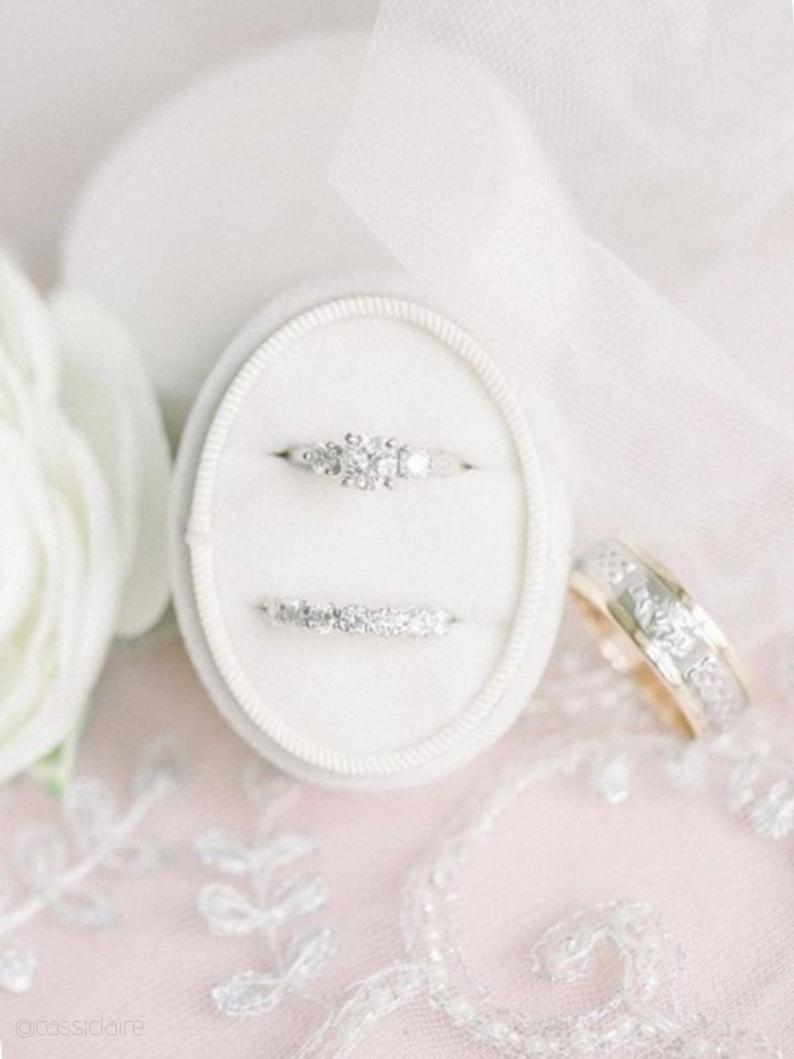 Velvet Wedding Details to Gush Over - Ring Box by Beloved Fine Jewels - #wedding #weddingdetails #velvet