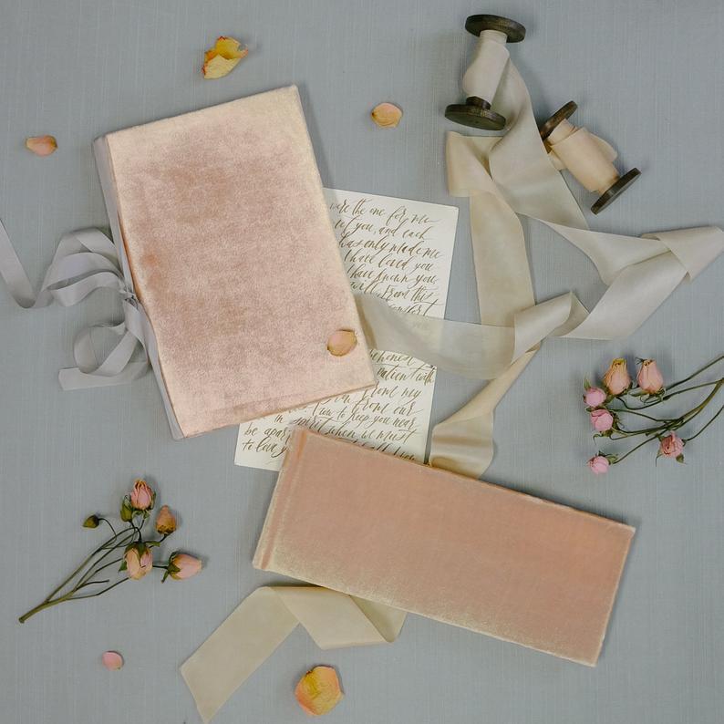 Velvet Wedding Details to Gush Over - Guest Book by Claire Magnolia - #wedding #weddingdetails #velvet