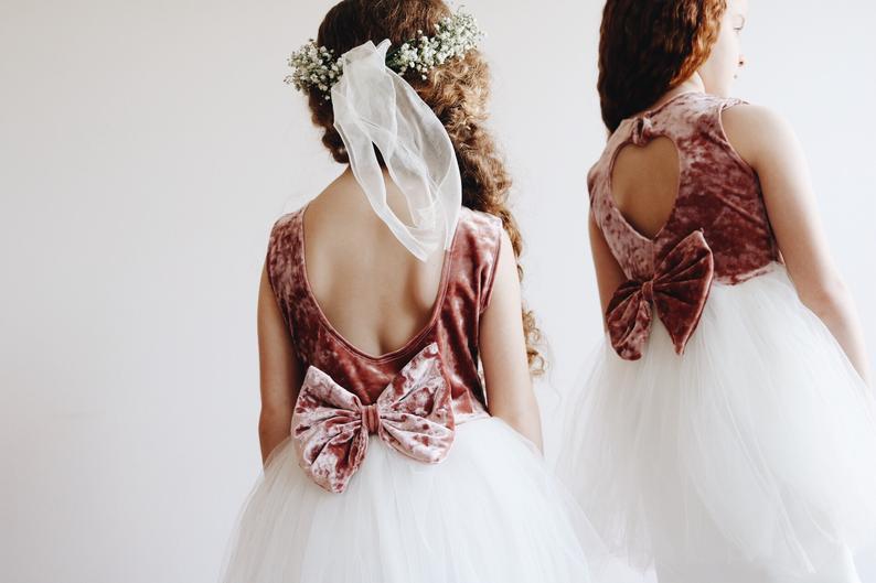 Velvet Wedding Details to Gush Over - Flower Girl Dresses by Shop Leila Rae - #wedding #weddingdetails #velvet