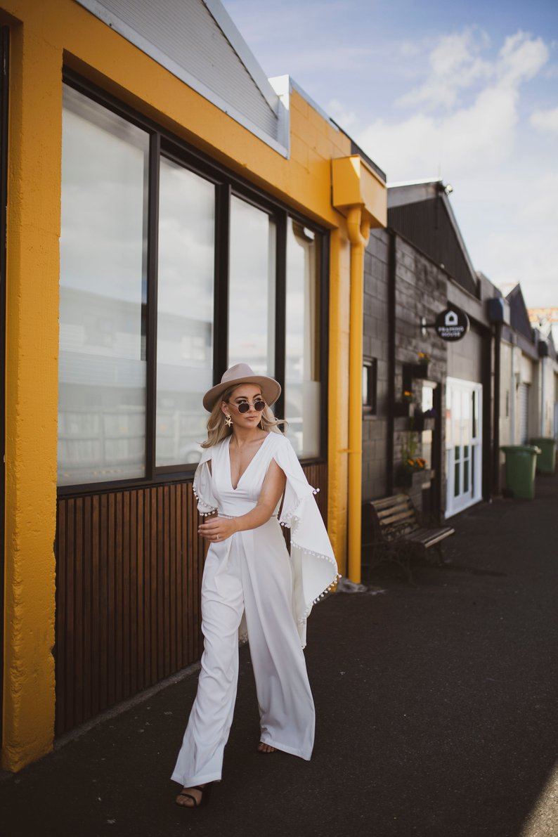 The Up and Coming Trend: Bridal Jumpsuits - Jumpsuit by Samantha Stokes Bridal - #weddings #bridal #jumpsuit #bridaljumpsuit