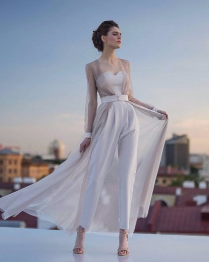 The Up and Coming Trend: Bridal Jumpsuits - Jumpsuit by Edelweiss Bride - #weddings #bridal #jumpsuit #bridaljumpsuit
