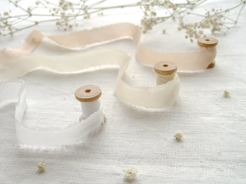 How to Put Together a Neutral Wedding - Ribbon by Dyeing2MeetU - #weddings #neutralweddings #weddingdecor