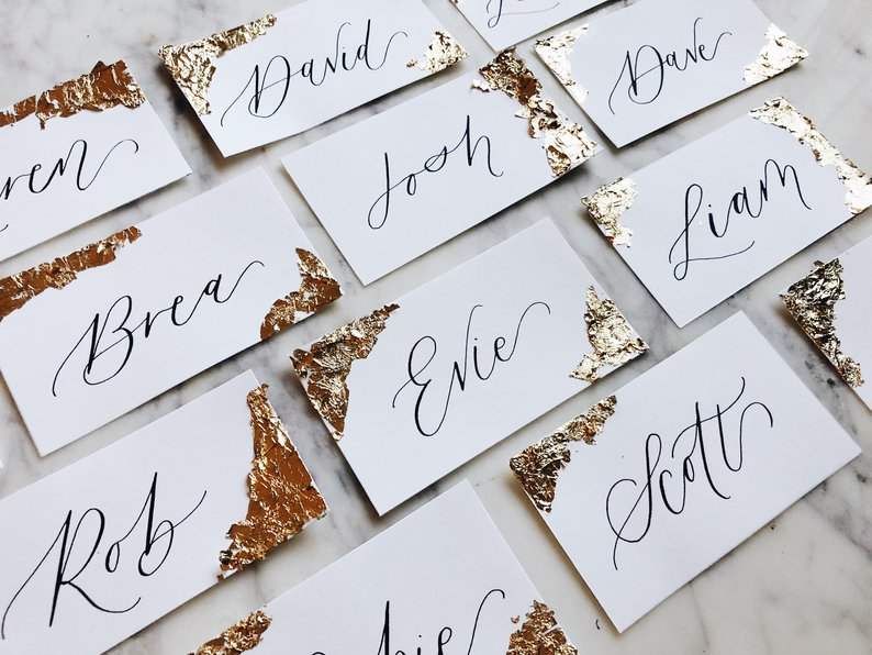 How to Put Together a Neutral Wedding - Place Cards from Within and Without Co - #weddings #neutralweddings #weddingdecor