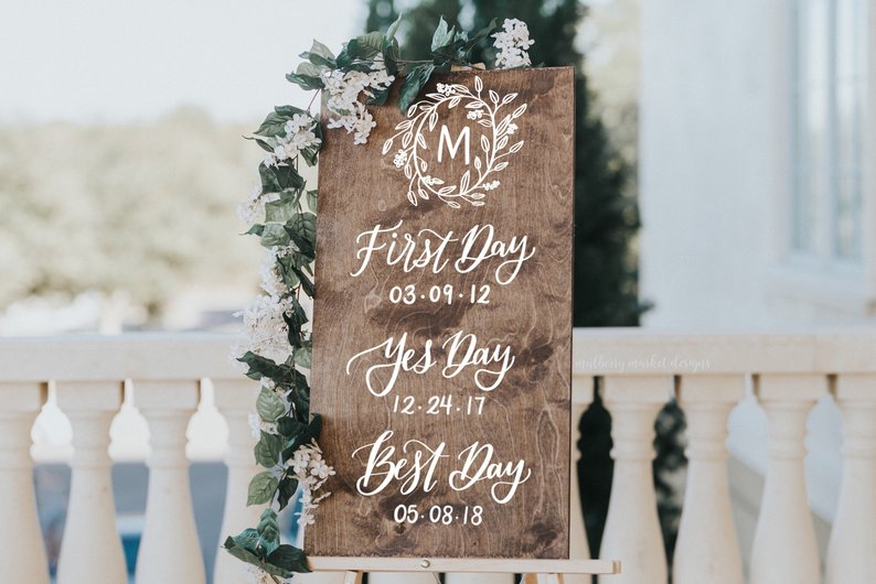 How to Put Together a Neutral Wedding -Sign by Mulberry Market Design - #weddings #neutralweddings #weddingdecor
