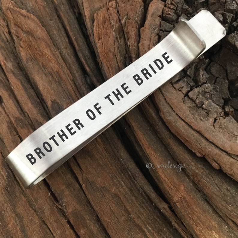 Gifts for Your Brother on Your Wedding Day - Tie Clip by Sierra Metal Design - #weddinggifts #brother #wedding