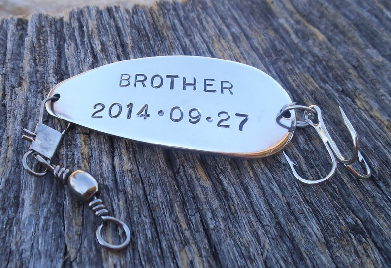 Gifts for Your Brother on Your Wedding Day - Fishing Lure by C and T Custom Lures - #weddinggifts #brother #wedding
