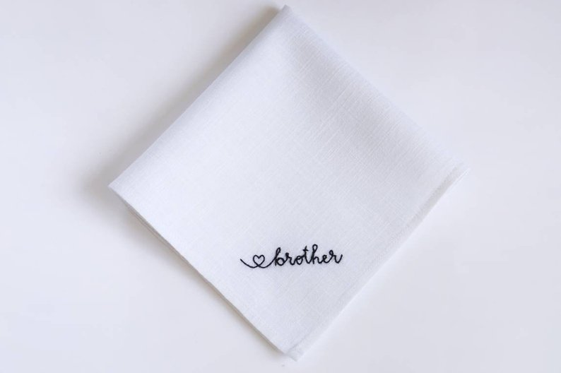 Gifts for Your Brother on Your Wedding Day - Hanky by My Hanky UA - #weddinggifts #brother #wedding