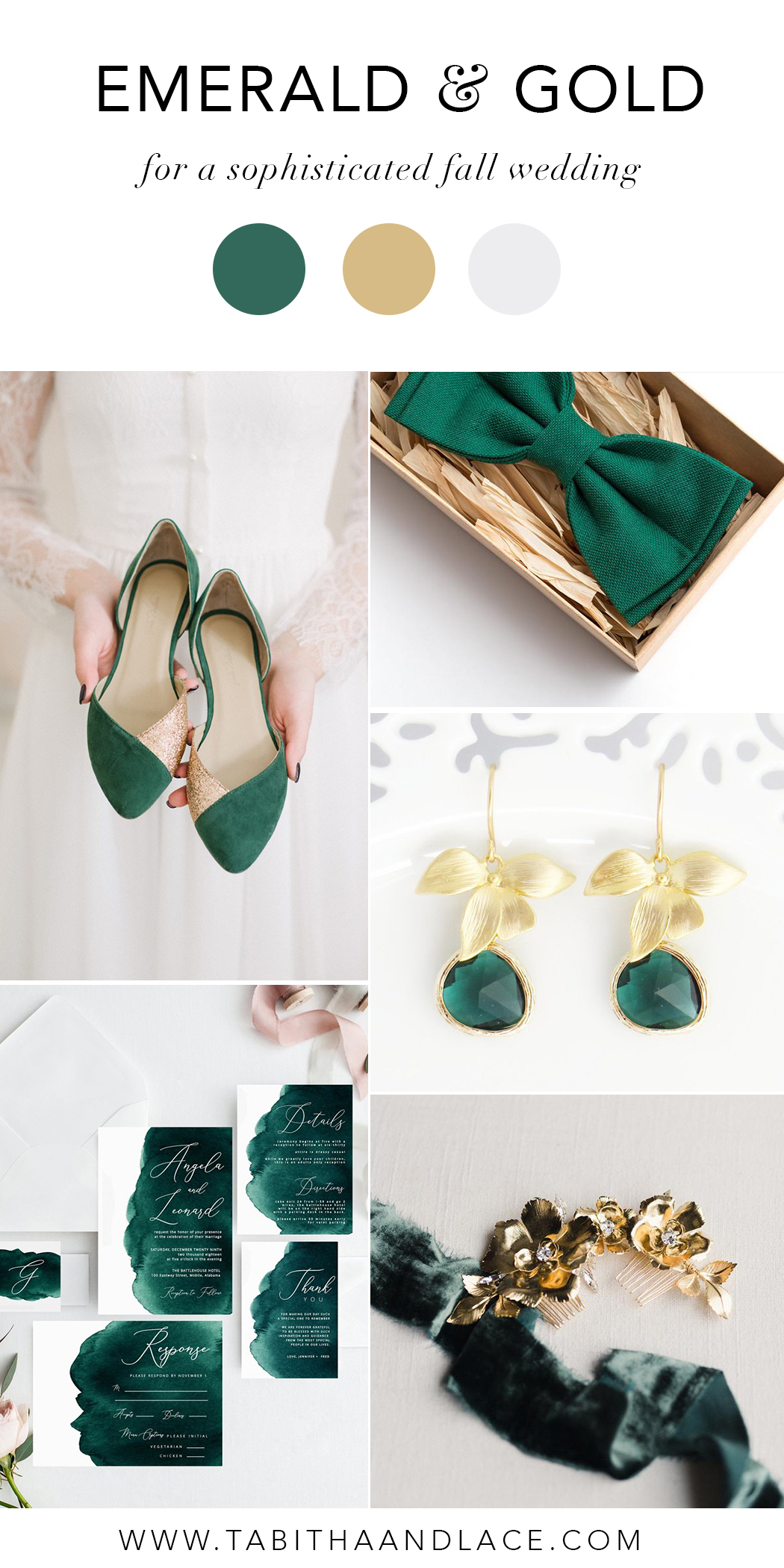 An Emerald and Gold Wedding