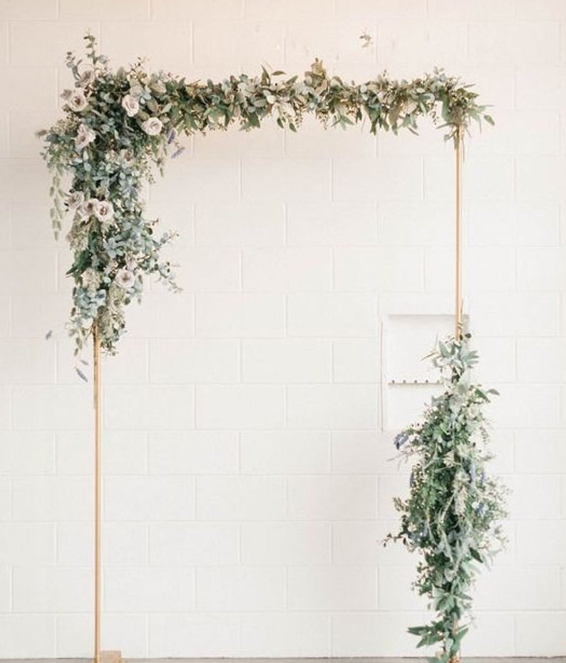 A Copper & Greenery Wedding - Arch by Willowbend Workshop - #wedding #greenery #copper