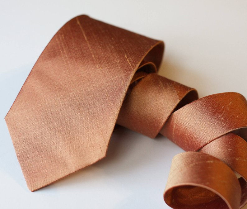 A Copper & Greenery Wedding - Copper Tie by VIVID Clothing Toronto - #wedding #greenery #copper