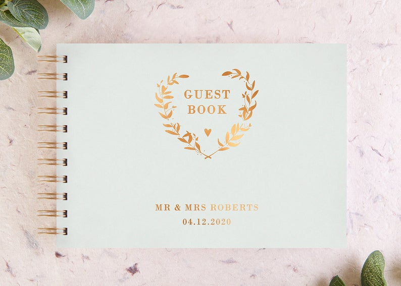 A Copper & Greenery Wedding - Guest Book by Norma Dorothy - #wedding #greenery #copper