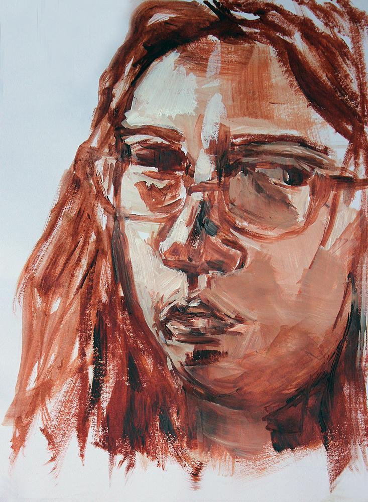 "Self-Portrait, 8x10"""